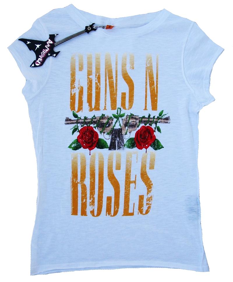 AMPLIFIED Vintage Official GNR n Roses Logo Schrift Rock Star ViP T-Shirt g.M L