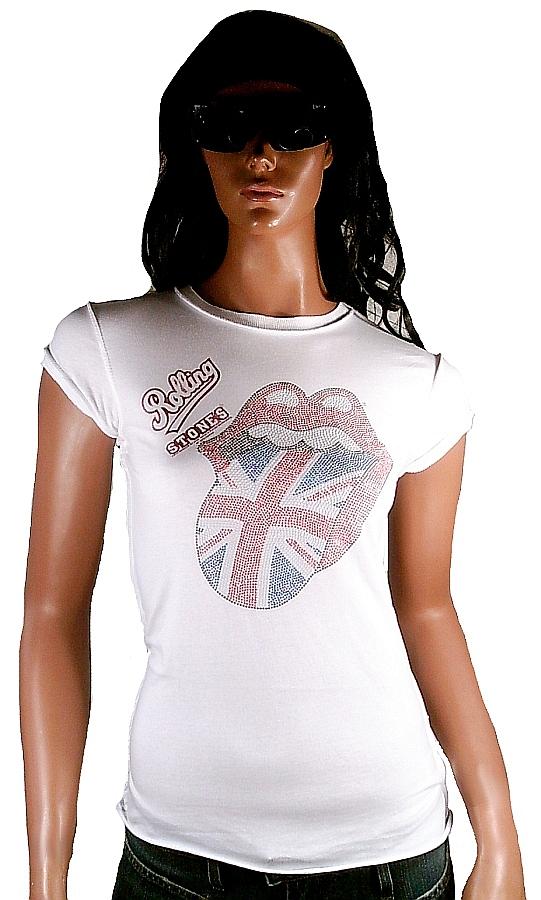 AMPLIFIED ROLLING STONES Union Jack Strass UK Rock Star Vintage ViP T-Shirt XL